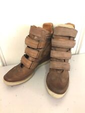 A.S. 89 Brown Leather Boot Wedge Sneakers- Size 41 - US - 10.5