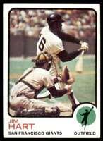 1973 Topps Jim Hart San Francisco Giants #538