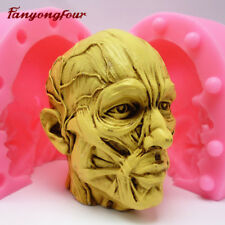 Top 3D Anatomy Skull Cake Mold Silicone Chocolate Gypsum Candle Soap