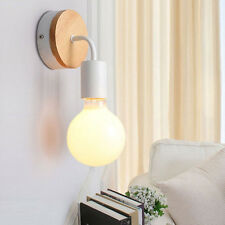 Home Modern Wood Wall Lamp Bedroom Wall Sconce Coffee Shop Wall Light Fixtures