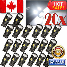 20x 6000K White T10 Wedge High Power LED Bulbs Backup Reverse Light w Projector