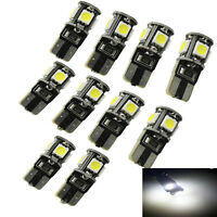 10X Ampoule LED Bulb Veilleuse 5 SMD-5050 Blanc T10 W5W CanBus 12v pour Voi K3L1