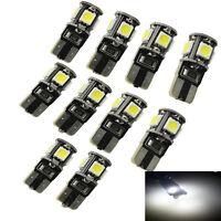 10X LED 5 SMD W5W Auto Glas Birne  T10 Lampe XENON WEISS CANBUS Standlicht Birne