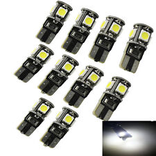 10X Ampoule LED Bulb Veilleuse 5 SMD-5050 Blanc T10 W5W CanBus 12v pour Voiture