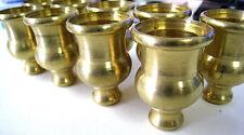 Lot of 9 Brass Candelabra Candle Holders Gold Color Base