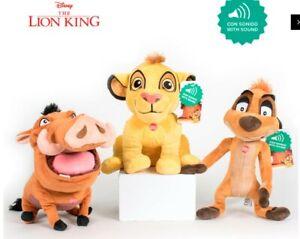 Peluche Disney Re Leone con suono Lion King H 30cms with sound Simba Pumba Timon