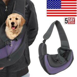 Pet Carrier Outdoor Cat Dog Sling Mesh Chest Shoulder Bag Puppy Pouch Backpack