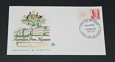 AUSTRALIA 1972 7c PRIME MINISTER BRUCE WITH TAB ISSUE ON ROYAL FIRST DAY COVER
