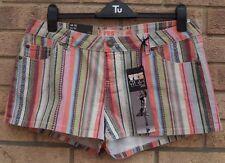 New Look Denim Striped Hot Pants for Women