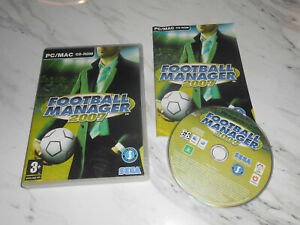 Football Manager 2007 (PC Mac CD-ROM) Soccer manager 07 ** FAST FREE POST **