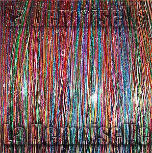"New 40"" Sparkling & Shiny Hair Tinsel 120 Strands – Fantasia Mix"