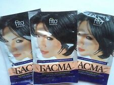 Basma Iranian natural  3 pcs x 25 g - for hair dyeing - FITO Cosmetics