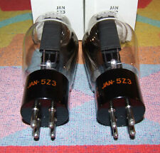 2 x JAN 5Z3 RCA WE 274A VT-145 BLACK PLATES LIKE AS 5U4G U52 GEC 5X4G 274A CV684