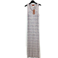 Missoni Orange Label Womens Long Sleeveless Maxi Dress Size 4