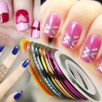 30pcs Mixed Colors Rolls Striping Tape Line DIY Fashion Nail Art Tips Decoration