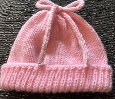 NEW BABY GIRLS  Pink Hat Prem Or Baby Doll SHOWER GIFT. PHOTO PROP