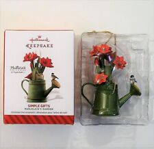 Hallmark 2014 Marjolein Bastin Garden Simple Gifts Ornament Water Can Chickad