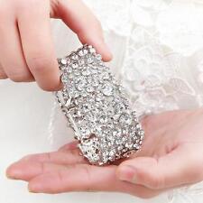 Luxury Bridal Crystal Bracelet Bridesmaid Rhinestone Wedding Bangle Jewelry