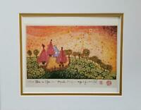 "Friedensreich Hundertwasser ""Hide Under The Meadow..."" Matted offset Litho 1986"