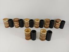 8x EDISON RECORD / GOLD MOULDED Records Containers w/ Cylinders -Ed. Phonograph