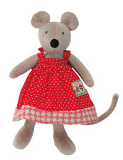 Moulin Roty La Grande Famille 20 cm Soft Plush Toy Nini the Mouse from Wyestyles