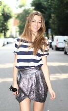 Isabel Marant Metallick Tulip Skirt Silk Wool Uk10 Eur36 BNWT NEW