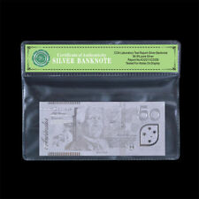 WR 999 Silver Foil Plated Australian 50 Dollar Note Banknote Rare Collection COA