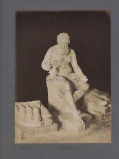 Sculpture italienne grecque Silène César Italie Grèce 2 Photos Vintage albumine