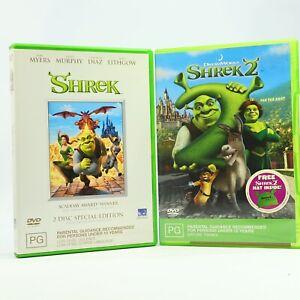 Shrek 1 + 2 Bundle DVD GC Mike Myers Eddie Murphy