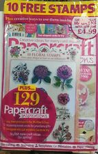 Papercraft Inspirations UK March 2017 10 Free Stamps Die Cut FREE SHIPPING sb