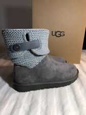 UGG SHAINA 1012534 WOMAN'S GREY AUTHENTIC NEW* BOOTS SIZE 6 INCLUDES BOX