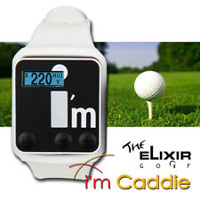 The Elixir Golf i'm Caddie Golf GPS Watch Dual Series Easy Clip On - White