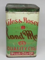Vintage Niles & Moser Cigar Co. Quality Cigars Tobacco tin