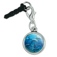 Dolphins Pod Underwater Diving Ocean Mobile Cell Phone Headphone Jack Charm
