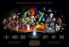 Star Wars Movie Poster (24x36) - Saga, Jedi, Sith, Empire, Darkside Episode I-VI
