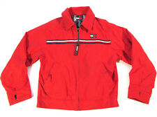 Vintage 90s Tommy Hilfiger Mini Flag Logo Zip Up Jacket Youth S Small Red