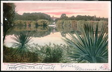 DEL MONTE CA Hotel Sunrise From Del Ray Lagoon Antique Postcard Early Vtg Old PC