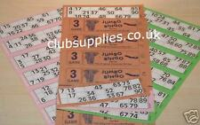 BINGO BOOKS 3 game Jumbo Tickets cards club pub pack of 105 x 3 game