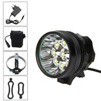 9x XM-L U2 LED Hiking Bike Front Lamp Bicycle Light Camping Head Torch HeadLight