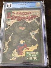 Amazing Spider-Man #41 CGC 6.5 White Pages First Rhino!!! Looks Amazing!