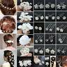 Bridesmaid Bridal Wedding Jewelry Pearl Crystal Flower Bowknot Hair Clip Hairpin