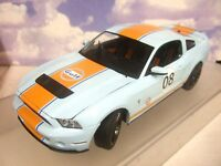 GREENLIGHT 1/18 DIECAST 2012 FORD (MUSTANG) SHELBY GT500 #8 GULF RACING COLOURS