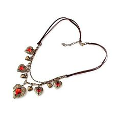 Metal Angel's Wings Hearts Pendant Necklace Buy One Get One Free, Acrylic Alloy