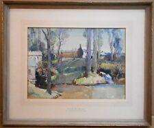 Kemyel Mill, Lamorna, Cornwall. Watercolour by Samuel John Lamorna Birch RA 1920