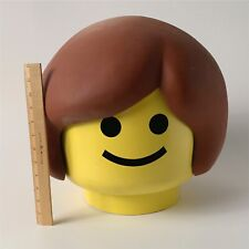 Vintage One Of A Kind Life Size Adult Female Lego Head With Brown Hair