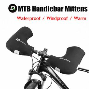 RockBros Winter MTB Mountain Bike Glove Windproof Bicycle Handlebar Warm Mittens
