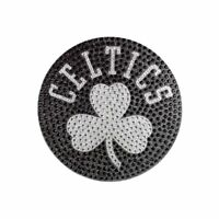 "Team ProMark NBA Boston Celtics Bling Emblem, 6.25"" x 6.25"", Silver"
