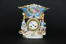 Stunning Antique French porcelain Clock gout de jacob petit figurines bird