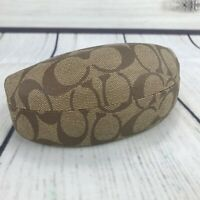 Coach Original Sunglasses Case Hard Clam Shell Brown Monogram Eye Wear Eyeglass