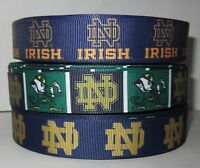 GROSGRAIN NOTRE DAME NCAA RIBBON LOT FOR HAIR BOWS 3 YARDS DIY CRAFTS